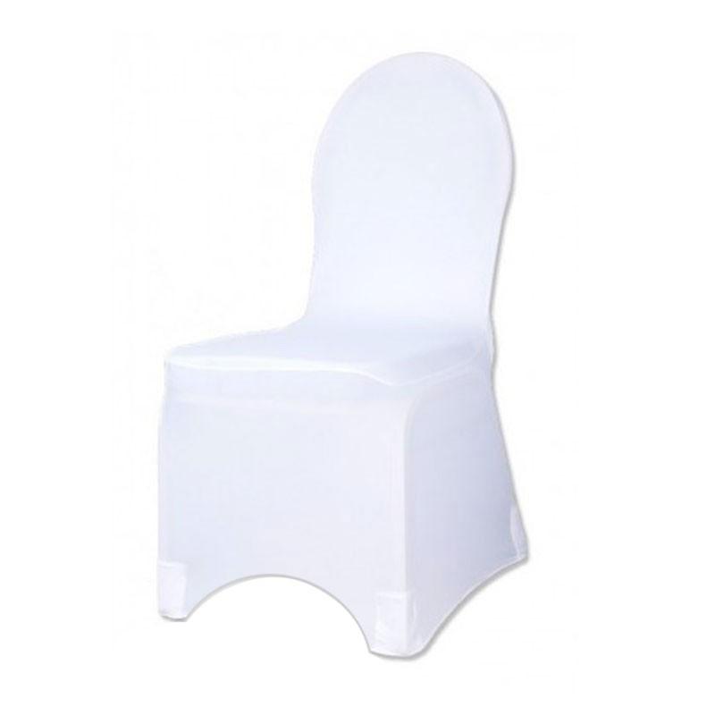 Housse de chaises lycra blanc haut de gamme