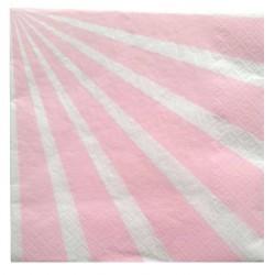 20 Serviettes Candy bar rose en papier