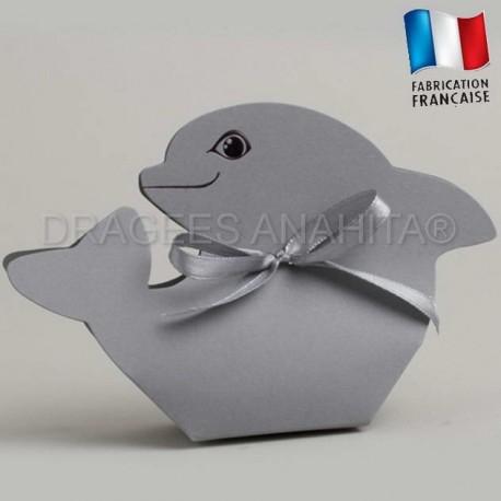 Ballotins dragées baptême dauphin
