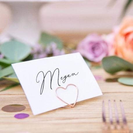 10 Marque place cœur Rose Gold