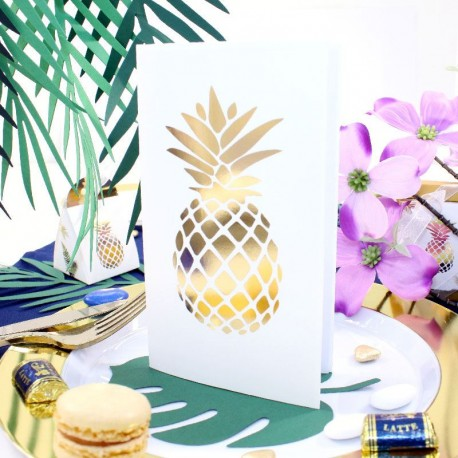 10 menus Ananas Blanc et Or pour repas de mariage