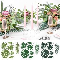 Feuilles éxotiques pour décoration de mariage ou fête tropicale
