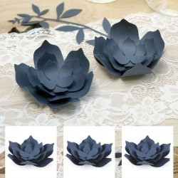 3 fleurs décoratives marine pour Mariage chic dentelle rustique