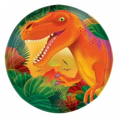 8 petites Assiettes Dinosaure