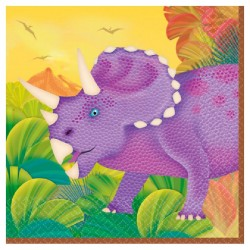 16 petites Serviettes dinosaure