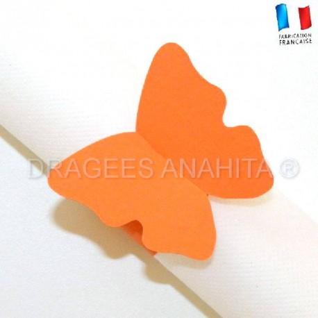 Rond de serviette Papillon orange