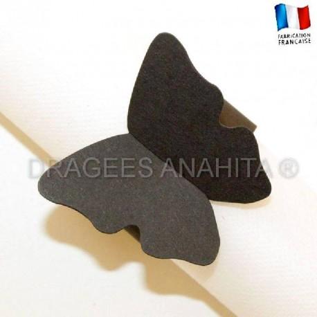 Rond de serviette Papillon noir