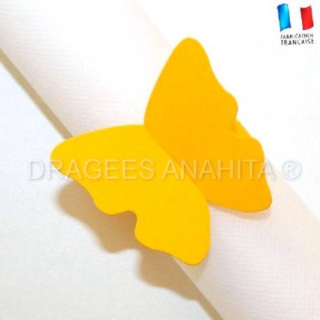 Rond de serviette Papillon jaune