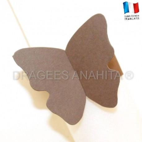 Rond de serviette Papillon chocolat