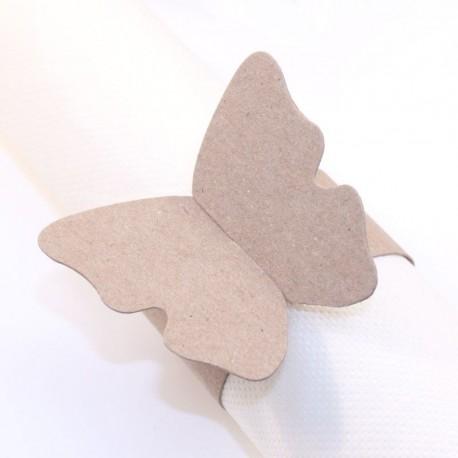 Rond de serviette Papillon