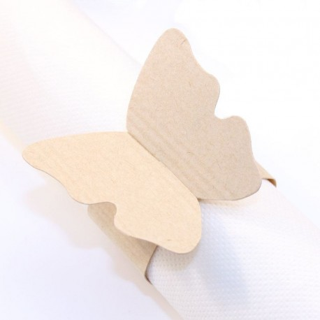Rond de serviette Papillon naturel