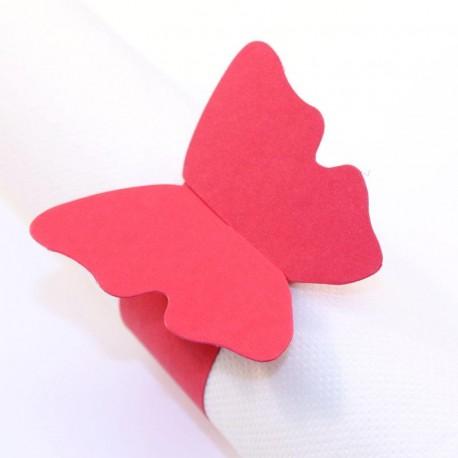 Rond de serviette Papillon rouge