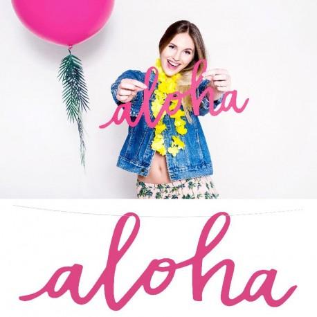 Guirlande Aloha pour décorer votre salle thème tropical
