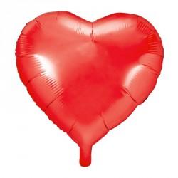 Ballon coeur Rouge Aluminium 45cm