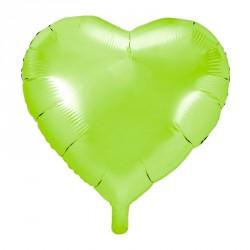 Ballon coeur Vert Aluminium 45cm