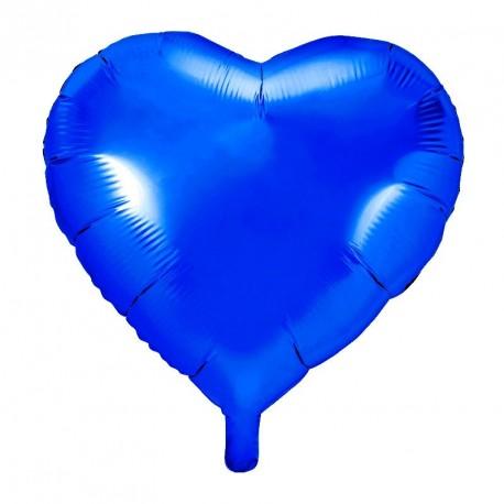 Ballon coeur Bleu Roi Aluminium 45cm