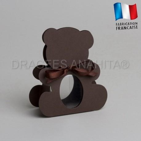dragées bapteme ourson chocolat