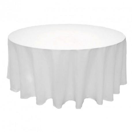 Nappe ronde blanche tissu anti tache haut de gamme 300 cm
