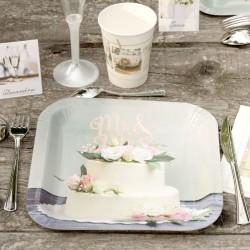 10 Assiettes mariage Romantique