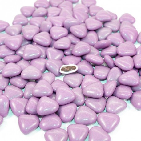 Dragées coeur chocolat Parme 1kg