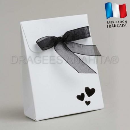Emballage à dragées mariage blanc