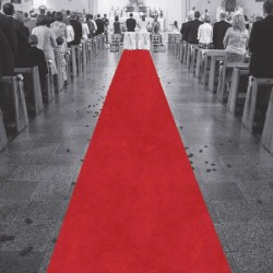 Grand tapis de mariage pour salle ou église 15 mètres