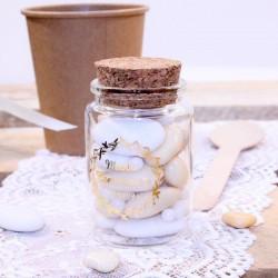 Pot en verre avec bouchon de liège personnalisable