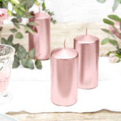 Bougie Rose Gold cylindrique 12cm