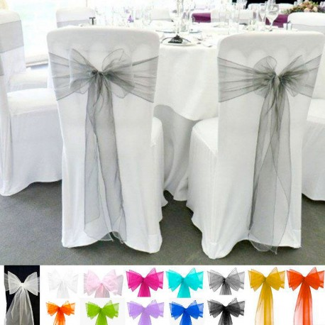 Noeud de chaise en organza pour mariage