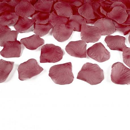 500 Pétales Bordeaux pour Mariage