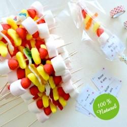 40 Brochettes bonbons, fruits ou viandes 20cm