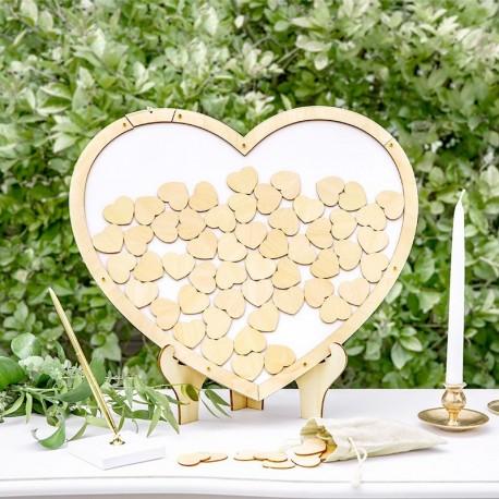 Livre d'or coeur en bois