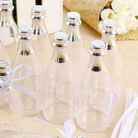 6 Bouteilles de Champagne à dragées transparentes