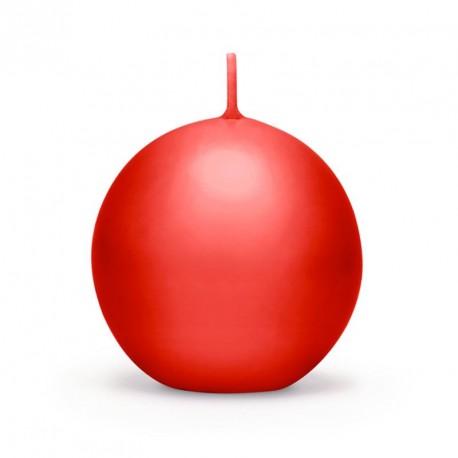 Bougie boule rouge 6 cm