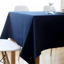 Nappe rectangle bleu marine Tissu 180x300cm mariage