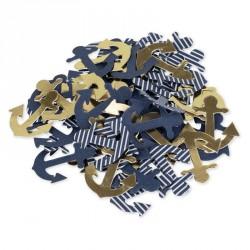 100 confettis Ancre thème marin
