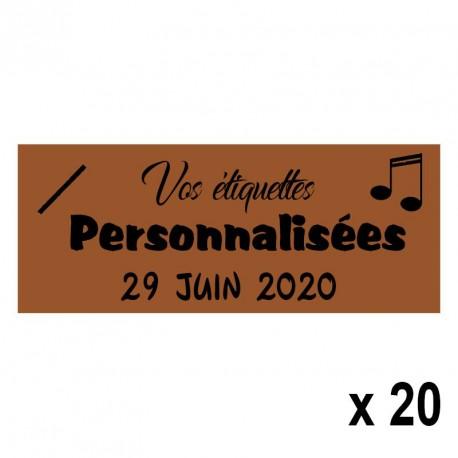 20 Etiquettes Chocolat personnalisables Texte et Logo