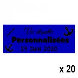 20 Etiquettes Marine personnalisables Texte et Logo