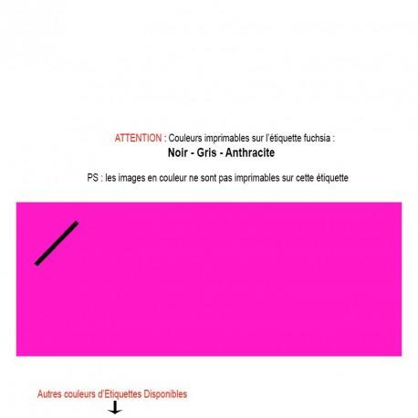 Etiquette fuchsia imprimée pour mariage, baptême, naissance