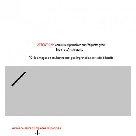 Etiquette personnalisable grise Texte et Logo