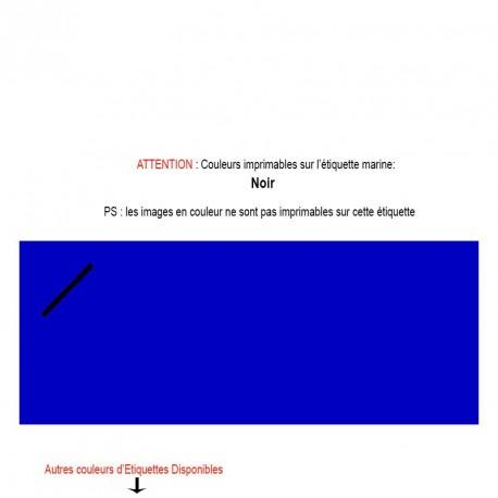 Etiquette marine imprimée pour mariage, baptême, naissance