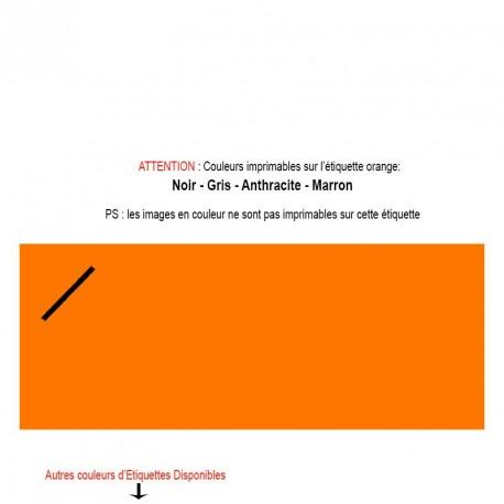 Etiquette imprimée orange pour mariage, baptême, naissance
