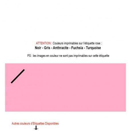 Etiquette rose imprimée pour mariage, baptême, naissance