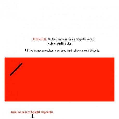 Etiquette imprimée rouge pour mariage, baptême, naissance