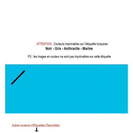 Etiquette turquoise imprimée pour mariage, baptême, naissance