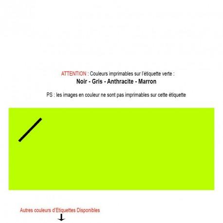 Etiquette personnalisable verte Texte et image