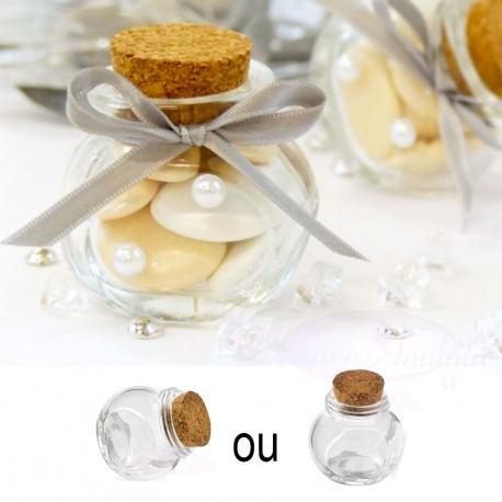 Bonbonnière en verre avec bouchon liège