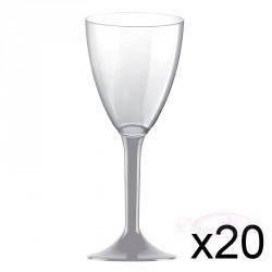 Verre à vin gris  x10