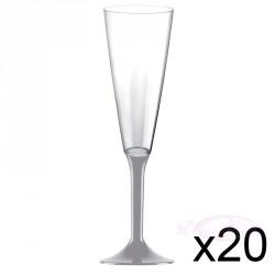 Flûte à Champagne grise  x10