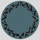 etiquette autocollante couronne d'olivier